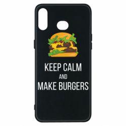 Чехол для Samsung A6s Keep calm and make burger