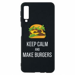 Чехол для Samsung A7 2018 Keep calm and make burger