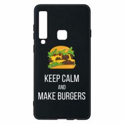 Чехол для Samsung A9 2018 Keep calm and make burger