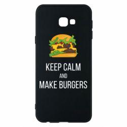 Чехол для Samsung J4 Plus 2018 Keep calm and make burger