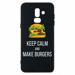 Чехол для Samsung J8 2018 Keep calm and make burger