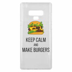 Чехол для Samsung Note 9 Keep calm and make burger