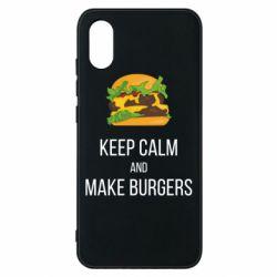 Чехол для Xiaomi Mi8 Pro Keep calm and make burger