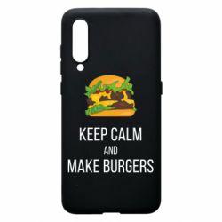 Чехол для Xiaomi Mi9 Keep calm and make burger