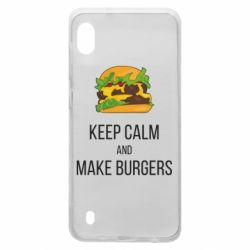 Чехол для Samsung A10 Keep calm and make burger