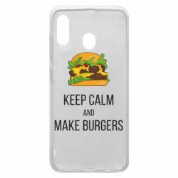 Чехол для Samsung A30 Keep calm and make burger