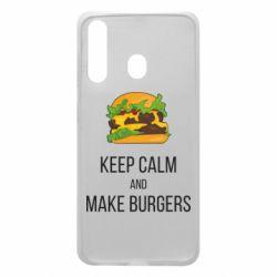 Чехол для Samsung A60 Keep calm and make burger