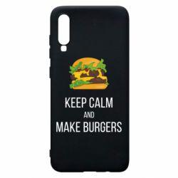 Чехол для Samsung A70 Keep calm and make burger