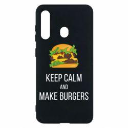 Чехол для Samsung M40 Keep calm and make burger