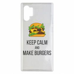 Чехол для Samsung Note 10 Plus Keep calm and make burger