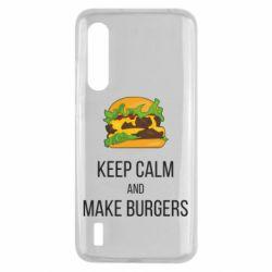 Чехол для Xiaomi Mi9 Lite Keep calm and make burger
