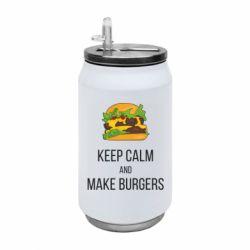Термобанка 350ml Keep calm and make burger