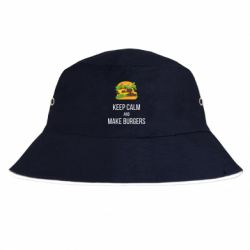 Панама Keep calm and make burger