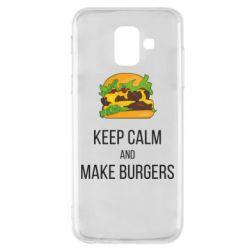 Чехол для Samsung A6 2018 Keep calm and make burger