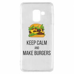 Чехол для Samsung A8 2018 Keep calm and make burger