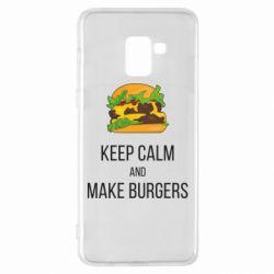 Чехол для Samsung A8+ 2018 Keep calm and make burger