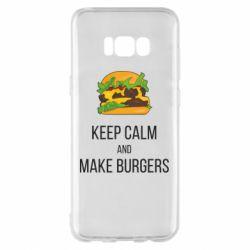 Чехол для Samsung S8+ Keep calm and make burger