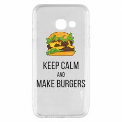Чехол для Samsung A3 2017 Keep calm and make burger