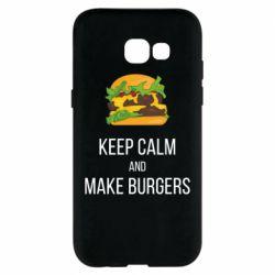 Чехол для Samsung A5 2017 Keep calm and make burger
