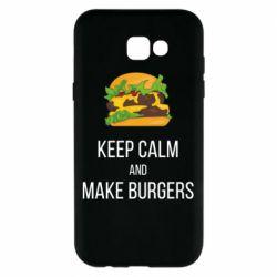 Чехол для Samsung A7 2017 Keep calm and make burger
