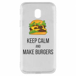 Чехол для Samsung J3 2017 Keep calm and make burger
