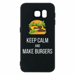 Чехол для Samsung S6 Keep calm and make burger