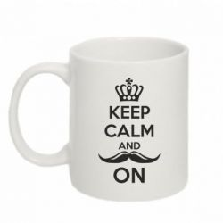 Кружка 320ml Keep Calm and Mister ON