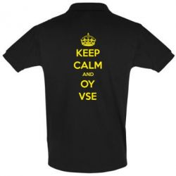Футболка Поло KEEP CALM and OY VSE