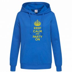 Женская толстовка KEEP CALM and PARTY ON