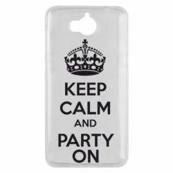 Чехол для Huawei Y5 2017 KEEP CALM and PARTY ON - FatLine