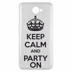 Чехол для Huawei Y7 2017 KEEP CALM and PARTY ON - FatLine