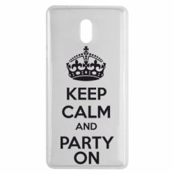Чехол для Nokia 3 KEEP CALM and PARTY ON - FatLine