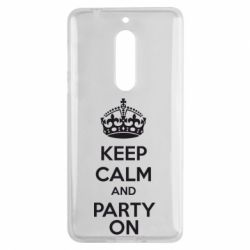 Чехол для Nokia 5 KEEP CALM and PARTY ON - FatLine
