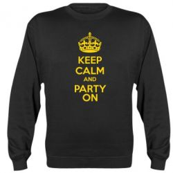 Реглан (свитшот) KEEP CALM and PARTY ON - FatLine