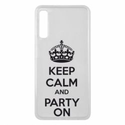 Чехол для Samsung A7 2018 KEEP CALM and PARTY ON - FatLine