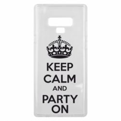 Чехол для Samsung Note 9 KEEP CALM and PARTY ON - FatLine