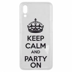 Чехол для Meizu E3 KEEP CALM and PARTY ON - FatLine
