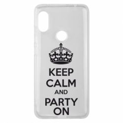 Чехол для Xiaomi Redmi Note 6 Pro KEEP CALM and PARTY ON - FatLine