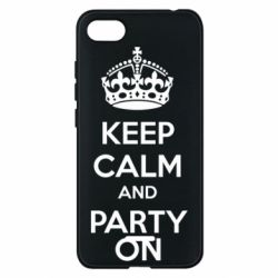 Чехол для Xiaomi Redmi 6A KEEP CALM and PARTY ON - FatLine