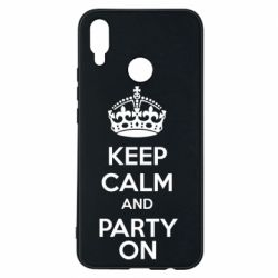 Чехол для Huawei P Smart Plus KEEP CALM and PARTY ON - FatLine
