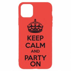 Чехол для iPhone 11 Pro KEEP CALM and PARTY ON
