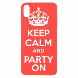 Чехол для iPhone X KEEP CALM and PARTY ON - FatLine