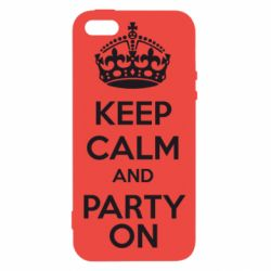 Чехол для iPhone5/5S/SE KEEP CALM and PARTY ON - FatLine