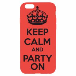 Чехол для iPhone 6/6S KEEP CALM and PARTY ON - FatLine