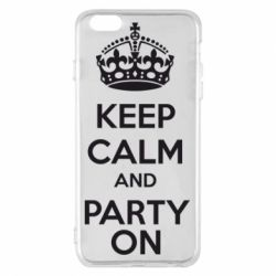 Чехол для iPhone 6 Plus/6S Plus KEEP CALM and PARTY ON - FatLine