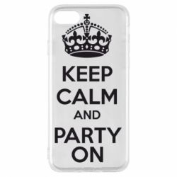 Чехол для iPhone 7 KEEP CALM and PARTY ON - FatLine