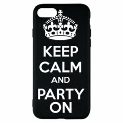Чехол для iPhone 8 KEEP CALM and PARTY ON - FatLine