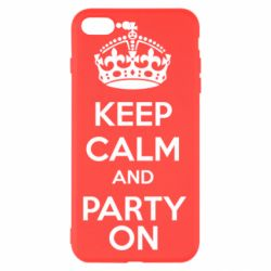 Чехол для iPhone 8 Plus KEEP CALM and PARTY ON - FatLine