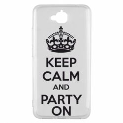 Чехол для Huawei Y6 Pro KEEP CALM and PARTY ON - FatLine