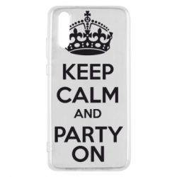Чехол для Huawei P20 KEEP CALM and PARTY ON - FatLine